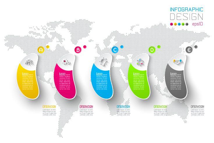 Infographie commerciale en 5 étapes. vecteur