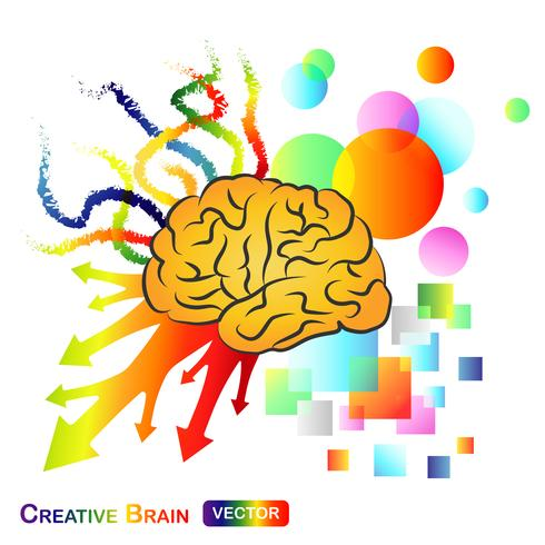 Cerveau créatif / abstrait vecteur