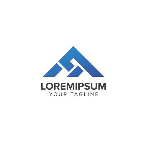 Concept de logo immobilier créatif vecteur