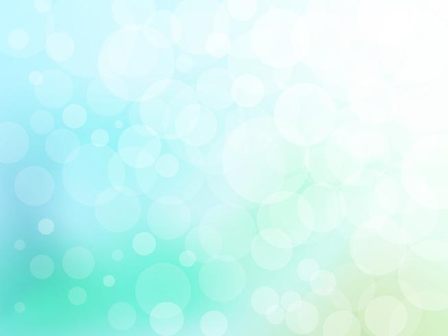 Bokeh abstrait sur les arts graphiques vectoriels bleu et vert. vecteur