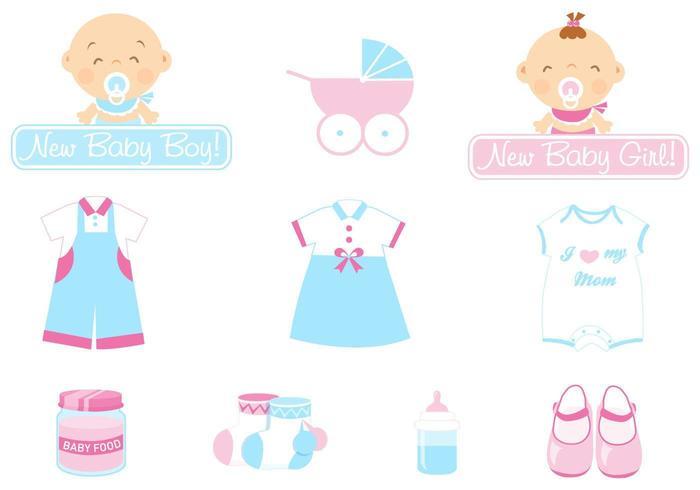 pack d'icônes vectorielles bébé vecteur