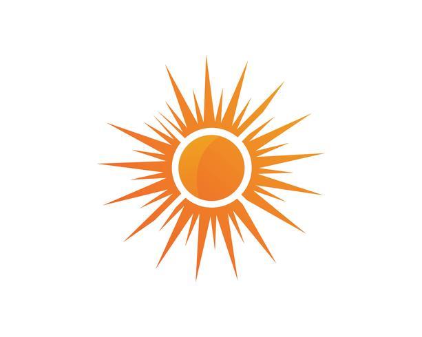 Sun logo et symboles étoile icône web vecteur -