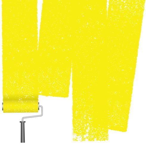 Abstrait de rouleau de peinture isolé sur fond blanc. vecteur