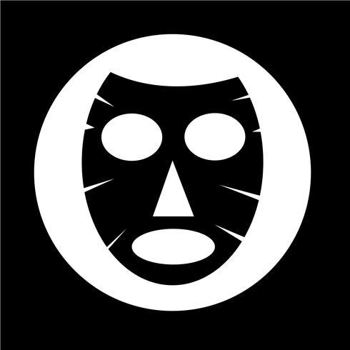 Icône de masque facial vecteur