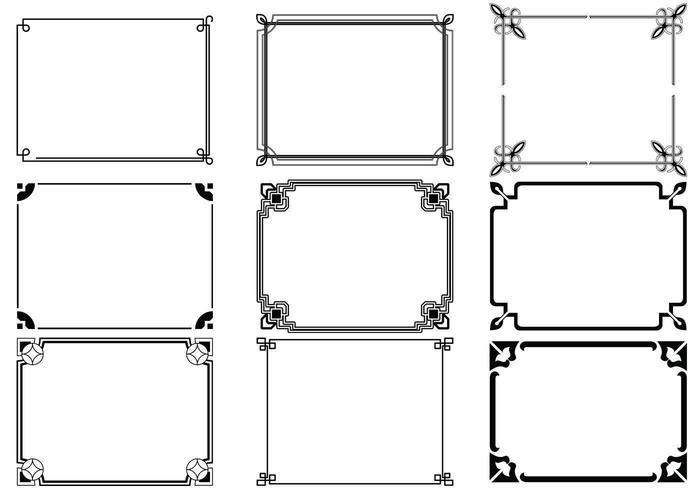 Pack Vector Art Déco Cadres