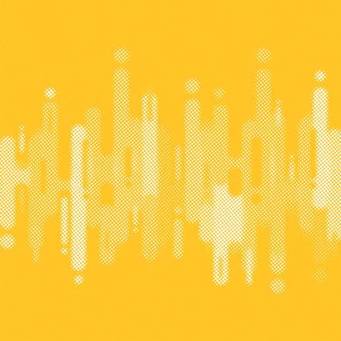 Lignes de formes abstraites arrondies jaunes transition fond avec espace copie. Style de demi-ton d'élément. vecteur