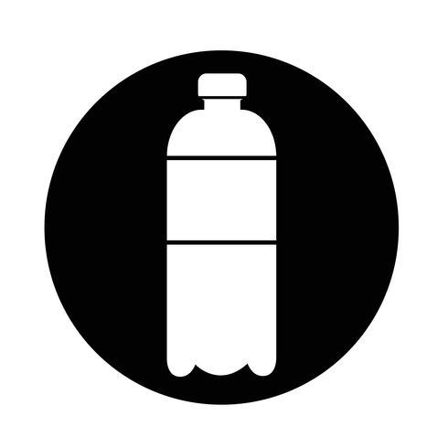 icône de bouteille d'eau vecteur