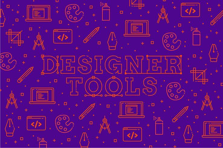 Outils de conception icône de fond vecteur