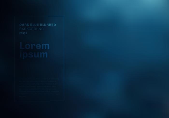 Abstrait bleu foncé flou fond avec fumée, brouillard, poussière. Nuageux dans le ciel nocturne. Espace discothèque vecteur