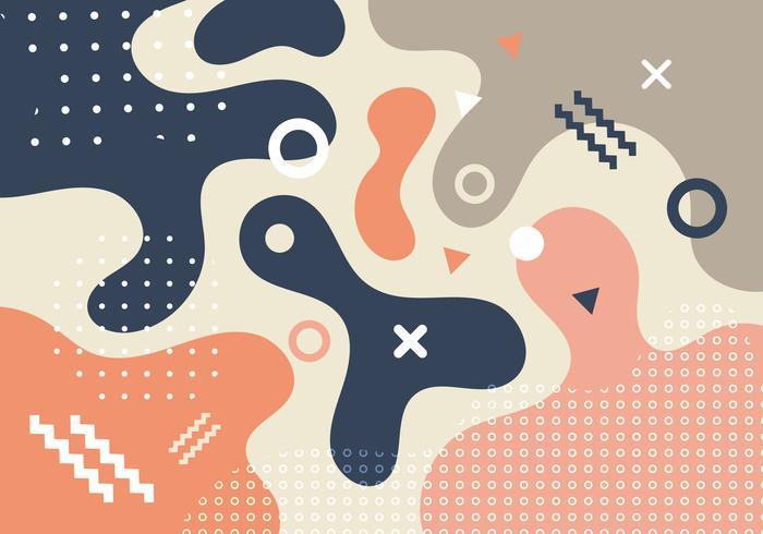 Formes géométriques abstraites et formes tendance mode Memphis style années 80-90 style fond de conception de carte. Vous pouvez utiliser pour affiche, brochure, mise en page, modèle ou présentation, dépliant, flyer, impression, bannière Web. vecteur