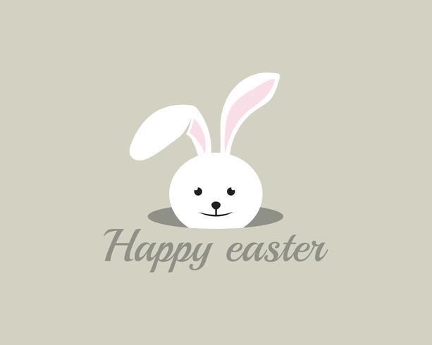 Joyeux lapin de Pâques en arrière-plan vecteur