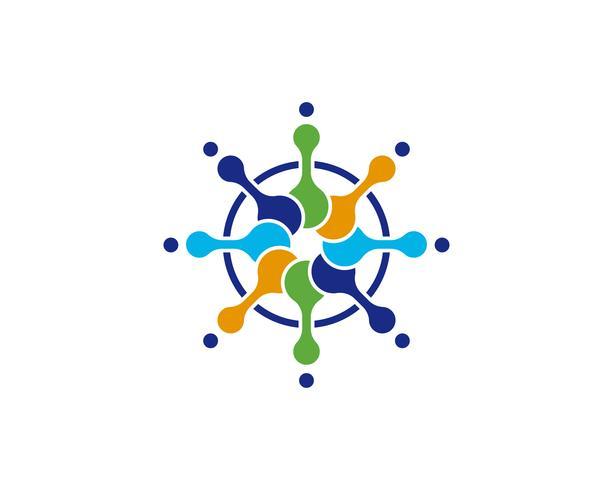 Conception d'illustration vectorielle molécule vecteur