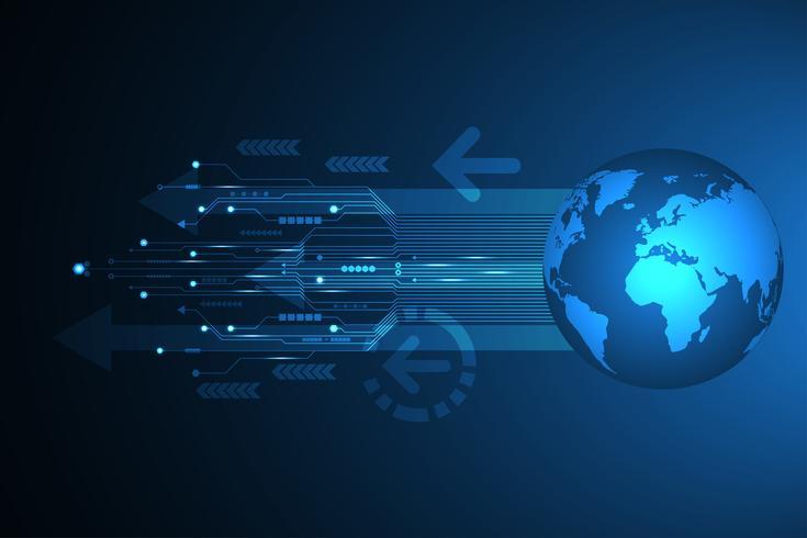 Innovation technologique de vecteur abstrait du monde futur.