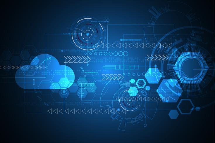 Innovation technologique de vecteur abstrait de l'avenir.
