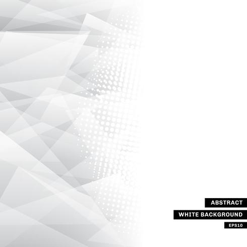 Modèle abstrait gris basse poly tendance blanc et demi-teinte avec espace de copie. Vous pouvez utiliser pour site Web, brochure, dépliant, couverture, bannière vecteur