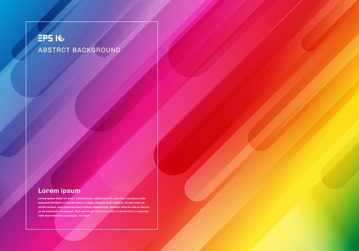 Abstrait géométrique coloré et composition dynamique de mouvement de formes dynamiques vecteur