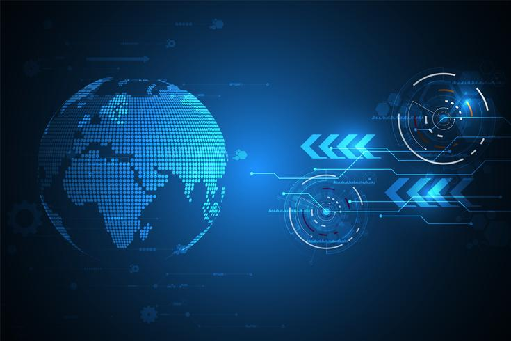 Innovation technologique vectorielle du monde futur. vecteur