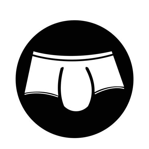 Icône de sous-vêtements pour hommes vecteur