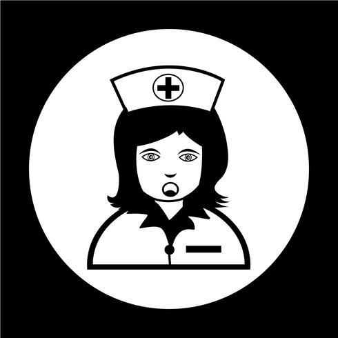 Infirmière Icône vecteur