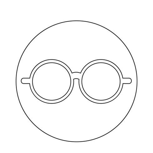 Icône de lunettes vecteur