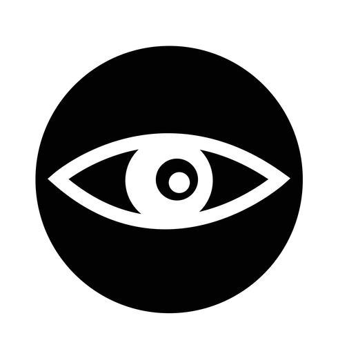 Icône des yeux vecteur