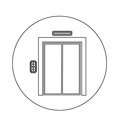icône d'ascenseur vecteur