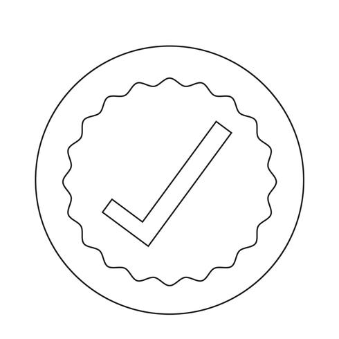 icône d'approbation vecteur
