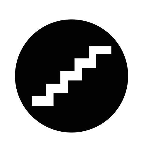 icône d'escalier vecteur