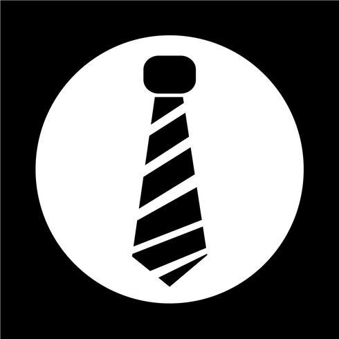 icône de cravate vecteur