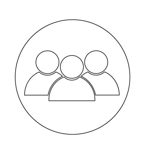 icône de personne vecteur