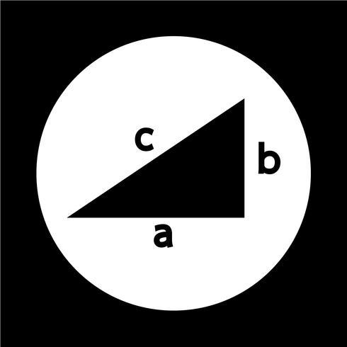 Icône du théorème de Pythagore vecteur