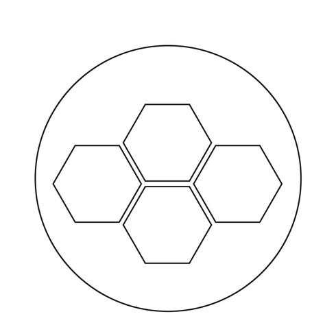 Icône de peigne de miel vecteur