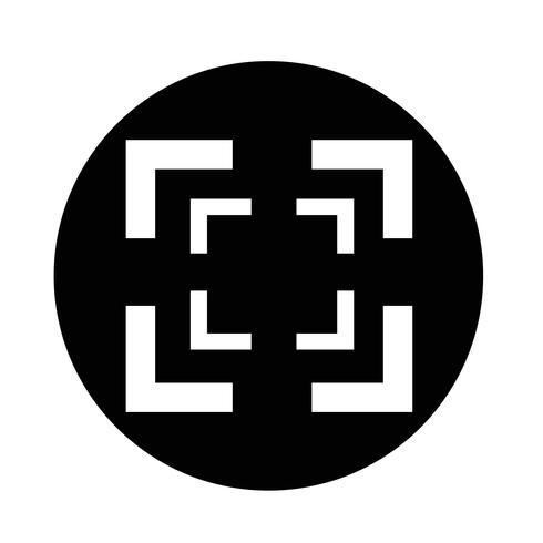 Icône de mise au point vecteur