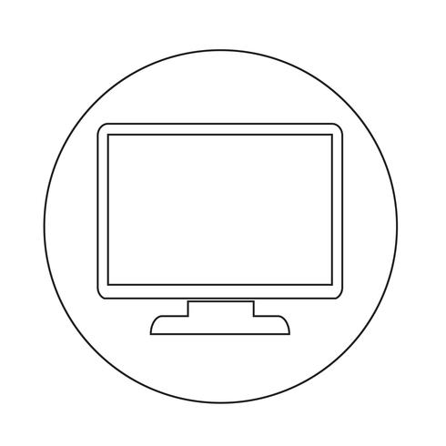 icône du moniteur vecteur