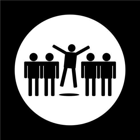 icône de personnes vecteur