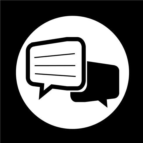 Icône de dialogue de discussion vecteur