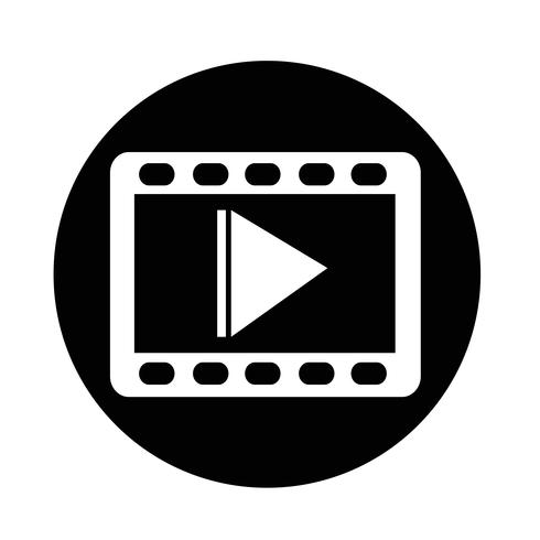 icône de film vidéo vecteur