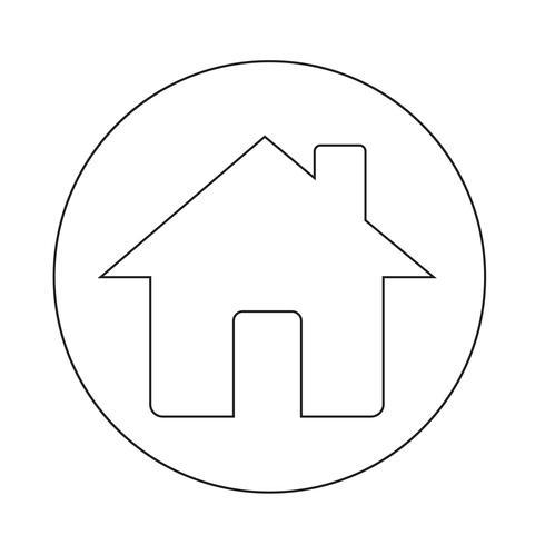 icône de la maison vecteur