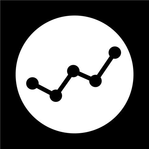 Icône de graphique vecteur