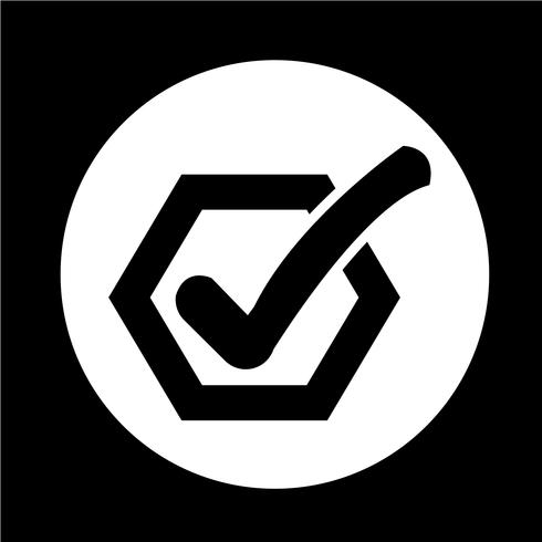 Icône du bouton de la liste de contrôle vecteur