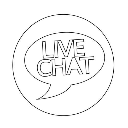 Icône de bulle de dialogue chat en direct vecteur