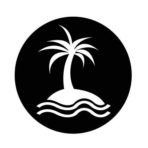 icône de l'île vecteur