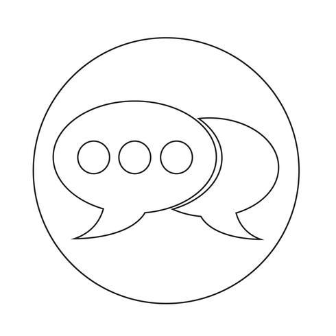 icône de bulle vecteur
