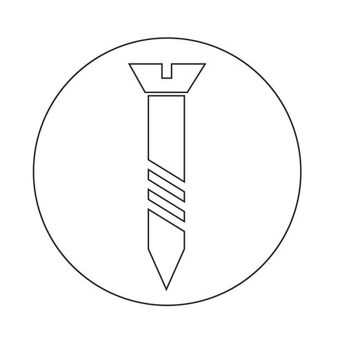 icône de vis vecteur