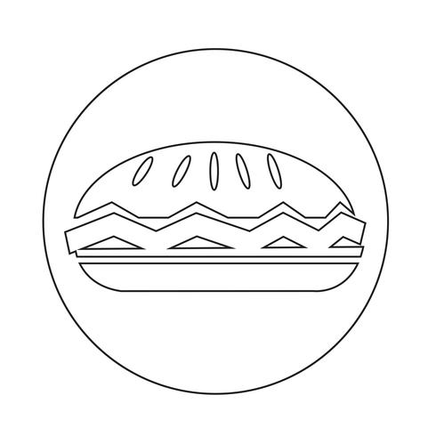 icône de la tarte alimentaire vecteur