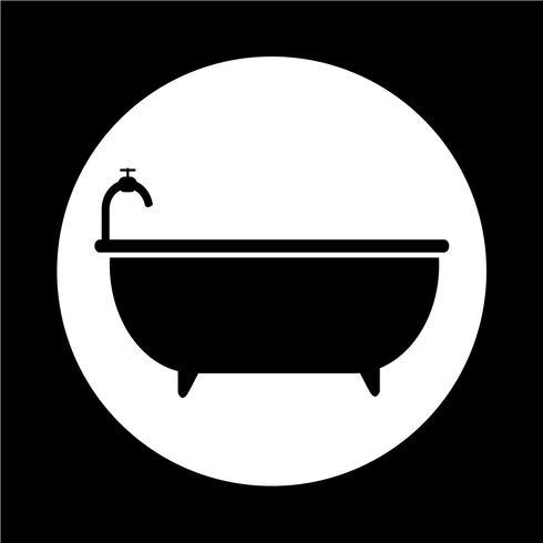 Icône de la baignoire vecteur