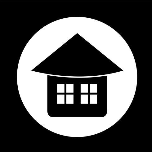 Icône de maison immobilier vecteur