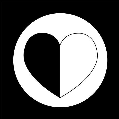 Icône de coeur d'amour vecteur