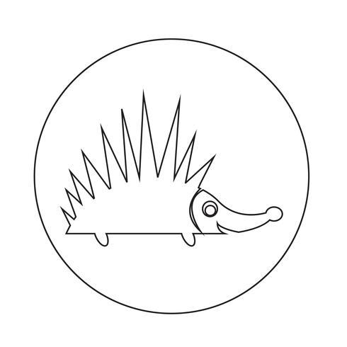 Icône de hérisson vecteur