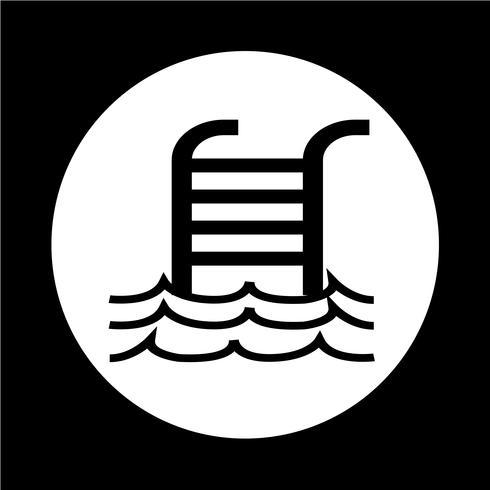 Icône de piscine vecteur